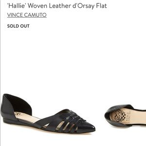 SOLD OUT Vince Camuto hallie woven d'Orsay Flat